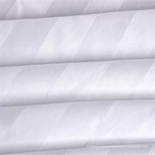 Fábrica de venda direta de cama de hotel barato cama de tecido de cor branca sólida 50 poliéster 50 tecido de algodão