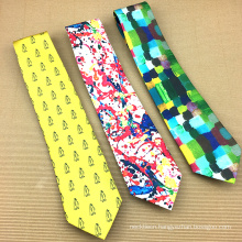 Screen Digital Printing Logo Custom Print Silk Tie