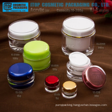 The most classical and universal full range high quality double layers wholesale acrylic plastic cosmetics cream jar