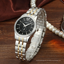 Modern Lady Wasserdichte Edelstahl Genf Armbanduhr