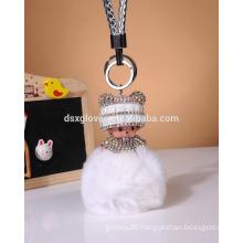 Rabbit Fur Animal Keychain