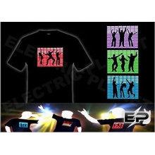 [Супер дело]Оптовая моды горячей продажи футболки А21,El футболки,LED футболки