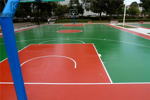 Outdoor Basketball Court Surface Material