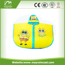 Cartoon Kids Rain Coat Plastic PVC Poncho