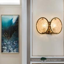 2020 modern art deco modern hotel indoor Creative led crystal wall lamp light