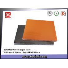 Placa de papel da baquelite do painel isolante de Phenolic para a fabricação do gabarito