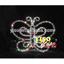 wholesale pageant butterfly rhinestone tiara