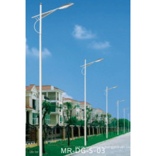 Galvanizado en polvo Coating Solar Street Light Post