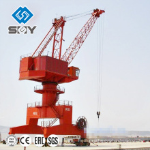 Outdoor slewing seaport jib portal crane port crane