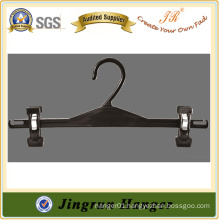 Manufacture Low Price Adjustable Clip Hanger in Plastic for Pants
