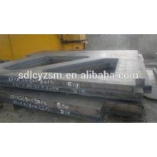 Placa de acero de corte por láser