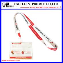 Lanyards de cuello impreso personalizado barato con titular de la tarjeta (EP-Y581415)