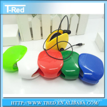 2014 Cheap Chain Winder Cord Organizer Retractable Earphone Recoil Winder