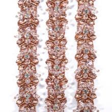 New design vintage rose gold elegant belt trims for decoration RH1003