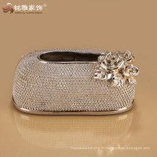 forme ovale boîte de papier de soie à la mode royale au prix de gros