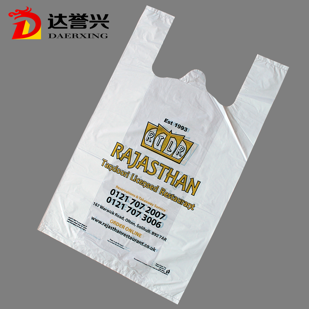 T-shirt Plastic Fashional Bag with Shopping