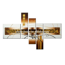Graceful Abstract Wall Art / Handmade Line Oil Painting / Factory Wholesale Canvas Art Painting