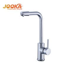 Torneira pia da cozinha sanitária longo corpo latão quadrado misturador torneira