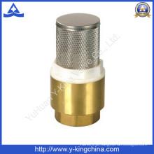 Válvula de verificação de bronze da mola com o filtro de aço de Stainess (YD-3003)