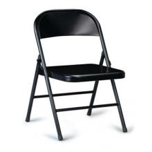 Черный складной стул, металлические спинки для офиса