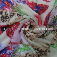 Tissu en soie imprimé en polyester imprimé en polyester