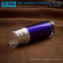 YB-WA40 40ml (20 ml x 2) acrílico grueso azul oscuro de la pared buena calidad lujo acrílico doble bomba botella