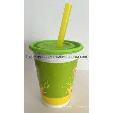 Bioégradable personnalisé de tasses en papier de qualité garantie