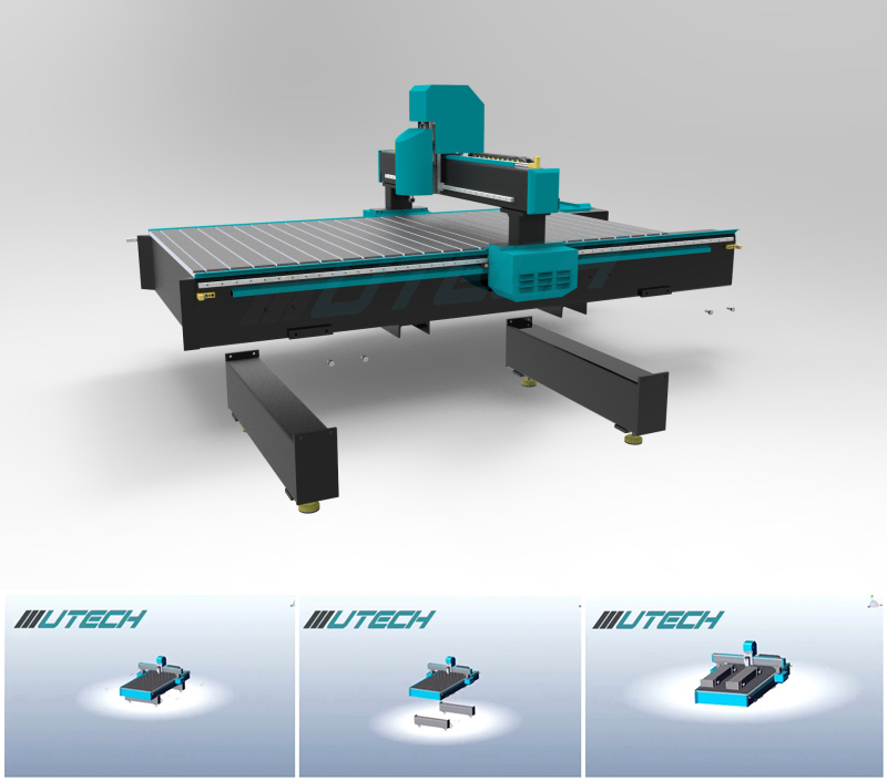 cnc router metal cutting machine