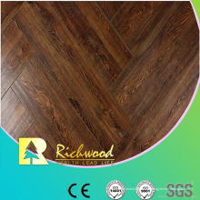 12 mm HDF en relieve Hickory V-Grooved encerado con bordes Lamianted Floor