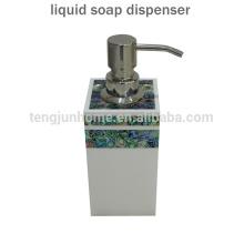 Hot Sale Paua Shell líquido dispensador de sabão de mão para acessório do banheiro