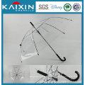 21 Inches Manual Open Plastic Straight Umbrella