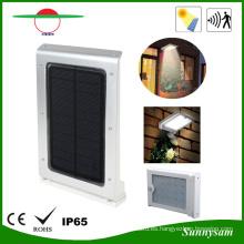 25LED Sensor de cuerpo LED Solar Pared exterior de jardín Luz