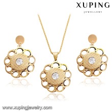 s-47 Xuping Special saudi dubaiJewelry set, fashion zircon and gold plated jewelry set