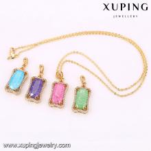 32678-trendy fashion jewelry 18k gold jade pendants