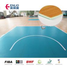 Anti-Slip pvc indoor sports floor basketball court wood flooring