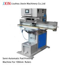 Máquina de impressão semi-automática para almofadas para réguas de 100mm