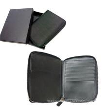 Zipper Closed Passport Holder, Travel Wallet, Purse