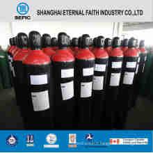 Cylindre de gaz à haute pression en acier sans couture d'oxygène (ISO9809 219-40-150)