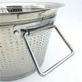 Cesta de almacenamiento de frutas y verduras de la cocina, cesta de la cocina del fregadero cesta de lavado del arroz redondo