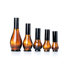 10ml 20ml 30ml 50ml 100ml gourd amber skincare cosmetic glass lotion bottle with pump