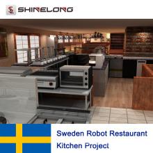 Projet de cuisine de restaurant de robot de la Suède