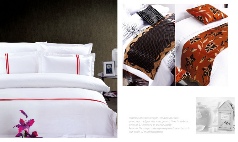 3-5 Star Hotel Embroidery 100% Egyptian Cotton Bed Sets