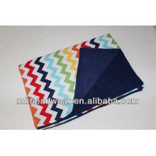 2014 manta polar de la impresión del paño grueso y suave de la capa doble de la venta
