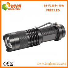 Factory Wholesale Best Aluminum Long Beam Portable Zooming Focus Cree xml t6 10w led High Power Rechargeable led flashlight