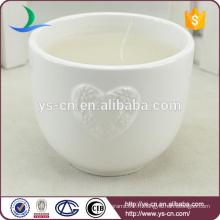 Vente en gros de bougies décoratives en céramique blanche