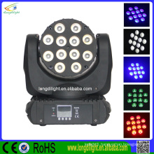 Super bright 12 x 10W RGBW LED Moving Head beam,6pcs/flight case