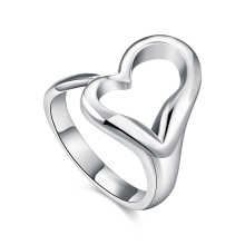 Heart Shape Women Rings Design simple coeur bijoux en argent