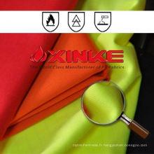 tissu ignifuge fonctionnel fonctionnel en coton / polyester