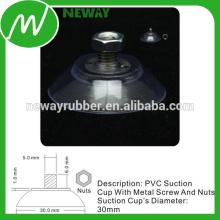 30mm Flach-PVC-Saugnapf mit Schraube und Muttern