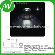30mm Flat PVC Suction Cup with Screw and Nuts